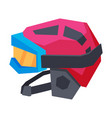 classic ski helmet and snowboard goggles extreme vector image