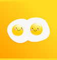 classic tasty breakfast of scrambled eggs vector image