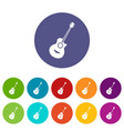 classical guitar set icons vector image vector image