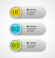 Colorful options banners or buttons vector image