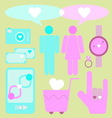 Create love and date items for lover vector image vector image