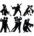 Dancing silhouettes vector | Price: 1 Credit (USD $1)