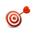 Dartboard with dart Hitting A Target vector image