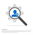 delete user icon search glass with gear symbol vector image