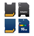 digital card and adapter vector image