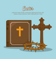 easter celebration design vector image