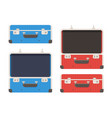 epty travel suitcase vector image vector image