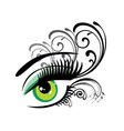 eyes floral green vector image
