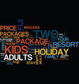 fiji holiday packages text background word cloud vector image vector image