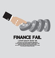 Finance Fail The Financial Failure Concept vector image vector image