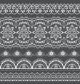french or english lace seamless pattern set white vector image vector image