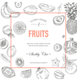Fruit Frame Invitation Card Wedding Card vector image vector image