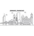 germany frankfurt architecture line skyline vector image vector image