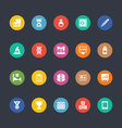 Glyphs Colored Icons 34 vector image