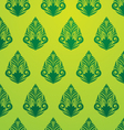 Green Pattern Wallpaper vector image vector image