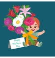 greeting cart baby boy Happy vector image