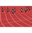 group women runners running vector image vector image