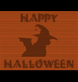 happy halloween of black cat in witch hat and vector image vector image