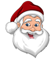 Happy Santa Claus Face Side View vector image vector image