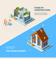 house construction repair rorenovation vector image vector image