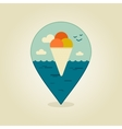 Ice Cream pin map icon Summer Beach Sun Sea vector image vector image