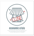 icon on a theme of economic crisis with market vector image vector image