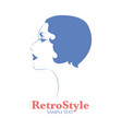 icon or avatar woman face in profile position vector image