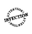 infection typographic stamp vector image