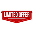 limited offer banner design vector image vector image