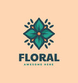 logo floral simple mascot style vector image