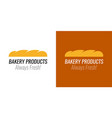 logo with loaf bread for bakery products shop vector image