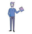 man with book vector image