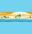 nature island at sunset vector image