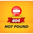 Not found sign vector image