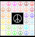 peace sign felt-pen 33 vector image vector image