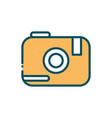 photo camera digital social media line and fill vector image vector image