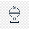 platter concept linear icon isolated on vector image