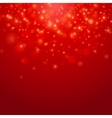 Red bokeh background vector image vector image