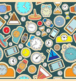 seamless pattern composed images hours vector image vector image