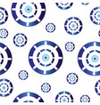 seamless pattern with blue evil eye vector image vector image