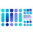 set gradient 02 vector image vector image