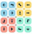 set of 16 simple cursor icons can be found such vector image vector image