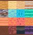 set seamless cartoon textures vector image vector image