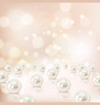 shell pearls background composition vector image vector image