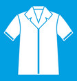 shirt polo icon white vector image vector image
