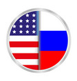 sign symbol relationship between the usa and russi vector image