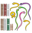 Snake and rope ladder set vector image vector image