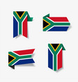 south african flag stickers and labels vector image