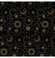space luxury seamless pattern vector image vector image
