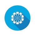 Spring floral icon Cornflower blue poppy vector image vector image